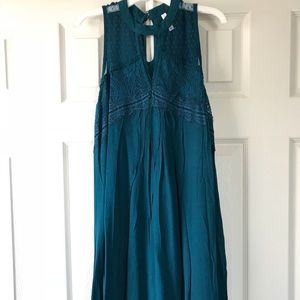 Teal halter neck dress